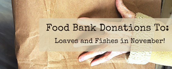 Monthly Food Bank Collection for Missions Large Banner