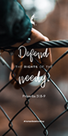 defend the rights of the needy cover