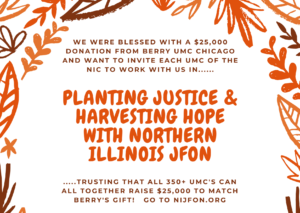 Planting Justice and Harvesting Hope with Northern Illinois JFON Poster